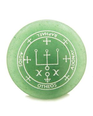 Sigil of the Archangel Raphael Magical Amulet Green Aventurine Magic Spiritual Keepsake Totem