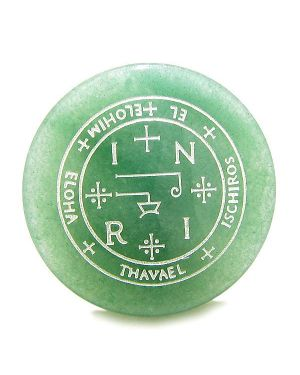 Sigil of the Archangel Thavael Magical Amulet Green Aventurine Magic Spiritual Keepsake Totem