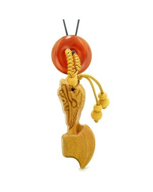 Axe Good Luck Car Charm or Home Decor Carnelian Lucky Coin Donut Protection Powers Amulet