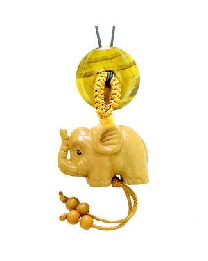 Baby Elephant Good Luck Car Charm or Home Decor Tiger Eye Lucky Coin Donut Protection Magic Cute Amulet
