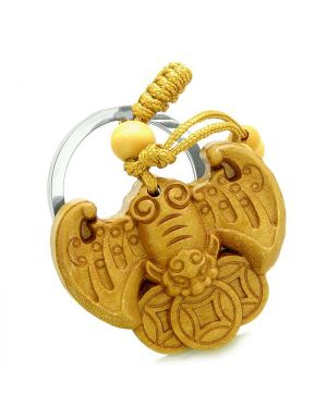 Amulet Flying Bat Lucky Coins Magic Protection Powers Charms Feng Shui Symbols Keychain Blessing