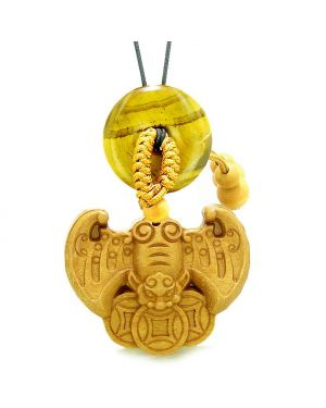 Flying Bat Lucky Coins Car Charm or Home Decor Tiger Eye Donut Protection Powers Amulet