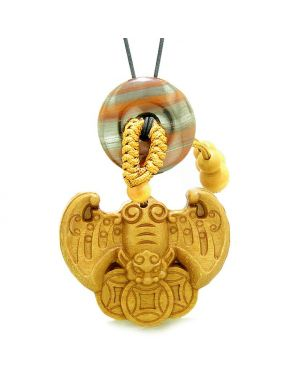 Flying Bat Lucky Coins Car Charm or Home Decor Dragon Eye Iron Magic Donut Protection Powers Amulet
