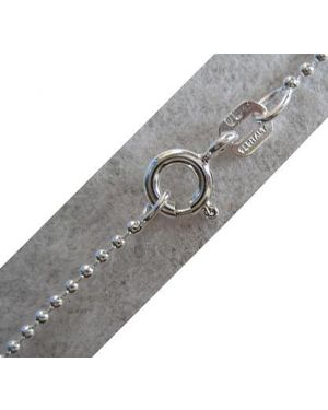 """16"""" Bead Style Sterling Silver Chain"""