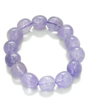 Amulet Tumbled Amethyst Crystals Good Luck and Protection Powers Lucky Charm Gemstone Bracelet