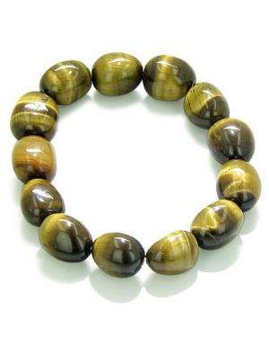 Amulet Healing Tiger Eye Tumbled Crystals Natural Powers Gemstone Bracelet