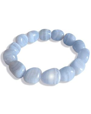 Agate Blue Lace Good Luck Bracelet
