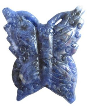 Evil Eye Protection Butterfly In Sodalite