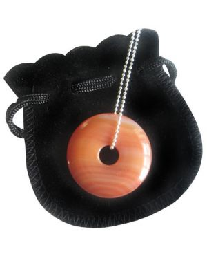 Evil Eye Protection Talisman Donut With Silver Chain