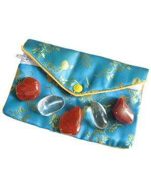 Carnelian Protection From Evil Eye Pouch