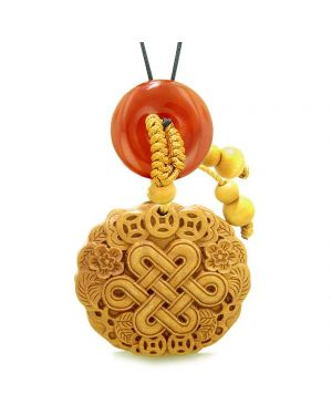 Celtic Shield Knot Lucky Coins Car Charm Home Decor Carnelian Donut Protection Powers Magic Amulet