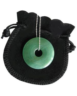 Money Talisman Donut With Silver Chain
