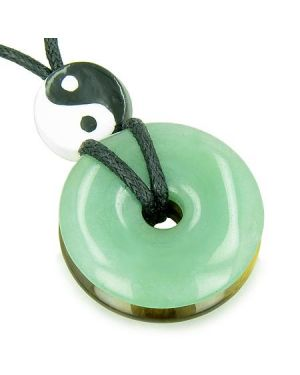 Amulet Double Lucky Yin Yang Donuts Aventurine Tiger Eye Evil Eye ProtectiMoney Powers Necklace