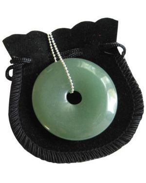 Money Talisman Donut With Silver Chain Necklace