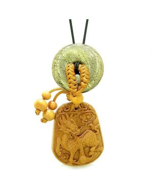 Lucky Dragon Car Charm Home Decor Golden Pyrite IrLucky Coin Donut Magic Protection Powers Amulet