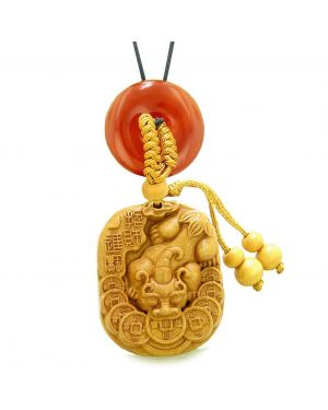 Courage Dragon Lucky Coins Car Charm or Home Decor Carnelian Donut Protection Powers Magic Amulet