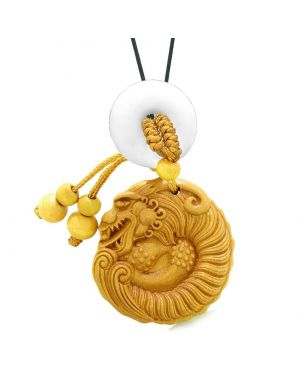 Magical Courage Dragon Car Charm Home Decor White Quartz Donut Protection Powers Good Luck Amulet