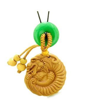 Magical Courage Dragon Car Charm Home Decor Green Quartz Donut Protection Powers Good Luck Amulet