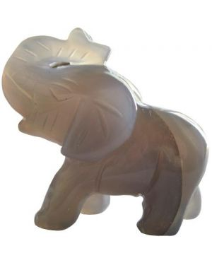 Agate Natural Lucky Elephant