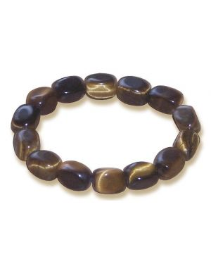 Evil Eye Protection Bracelet In Tiger Eye
