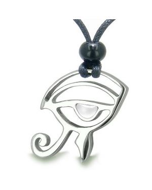 Amulet Eye of Horus All Seeing Egyptian Power of Life Cats Eye Positive Magic Pendant Necklace