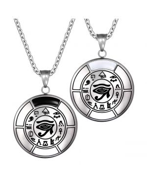 All Seeing Feeling Eye of Horus Love Couples Amulets Set Pendant Necklaces