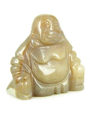 Good Luck Talisman Natural Agate Happy Buddha Gemstone Carving