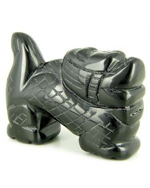 Spiritual Talisman Black Onyx Dragon Gemstone Carving