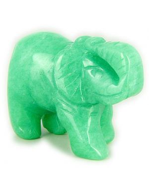 Good Luck Talisman Green Jade Elephant Gemstone Carving