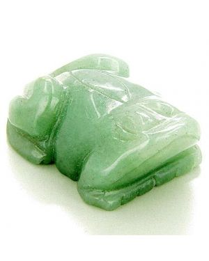 Good Luck And Money Talisman Frog Totem Aventurine Carving
