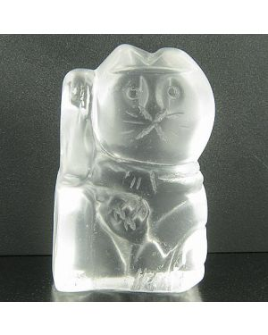 Crystal Quartz Evil Eye Protection Lucky Cat Gemstone Cat
