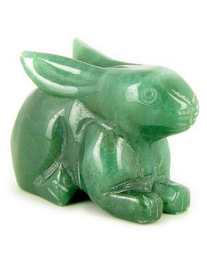 Money Talisman Green Aventurine Rabbit Gemstone Carving