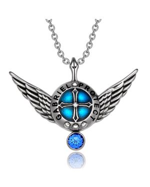 Archangel Gabriel Angel Wings Shield Protection Magic Power Amulet Pendant Necklace