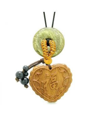 Fortune Heart Magic Car Charm Home Decor Golden Pyrite IrLucky Coin Donut Protection Powers Amulet