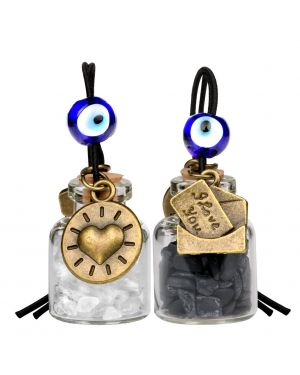 I Love You Envelope Heart Sun Small Car Charms Home Decor Gem Bottles Quartz Black Obsidian Amulets