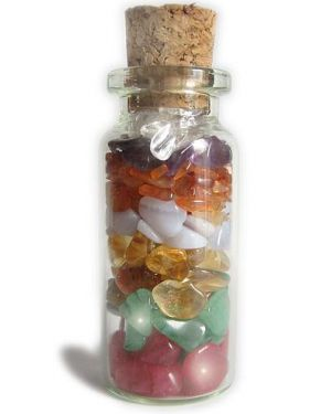 A Good Luck Chakra Talisman Gemstone Bottle