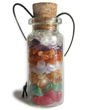 Lucky Charm Good Luck Chakra Talisman Gemstone Bottle Car Hanger