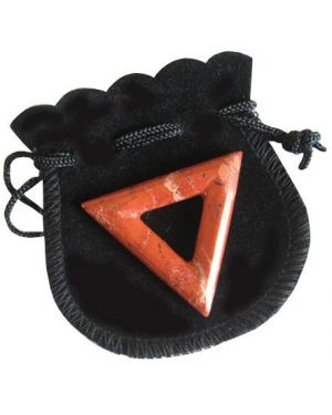 Will Power Talisman Triangle Donut In Red Jasper