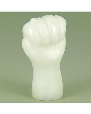 Good Luck Talisman White Jade Figa Gemstone Carving