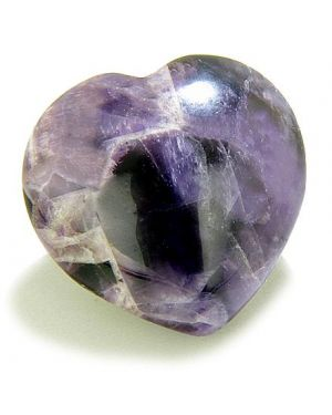 Good Luck Talisman Amethyst Gemstone Puffy Heart
