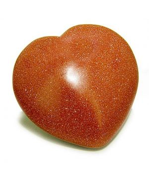Good Luck Talisman Gold Stone Gemstone Puffy Heart