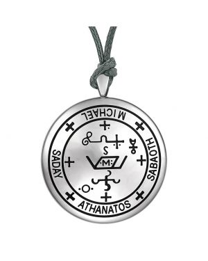 Guardian Archangel Michael Sigil Amulet Keep Me Safe and Positive Inscription Prayer Adjustable Necklace