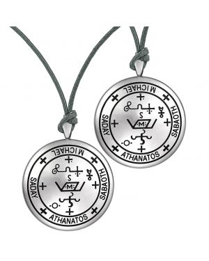 Archangel Michael Sigil Amulet Keep Me Safe and Positive Prayer Love Couples Adjustable Necklaces