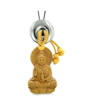 Kwan Yin Quan Magic Lotus Car Charm Home Decor Hematite Lucky Coin Donut Protection Powers Amulet