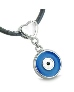 Amulet Evil Eye Reversible Double Lucky Hearts Charm Yin Yang White Cats Eye Onyx Pendant Necklace