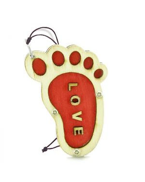 Cute Bare Foot Love Energy Lucky Charm Magic Protection Powers Wooden Car Charm Home Decor Blessing