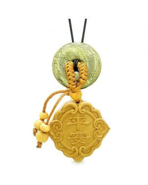 Good Luck Magic Car Charm or Home Decor Golden Pyrite IrLucky Coin Donut Protection Powers Amulet