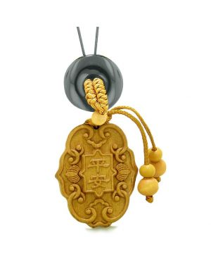 Feng Shui Lucky Symbols Car Charm or Home Decor Black Agate Donut Protection Powers Magic Amulet