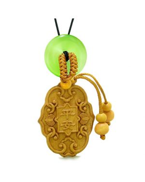 Feng Shui Lucky Symbols Car Charm Home DecGreen Simulated Cats Eye Donut Protection Magic Amulet