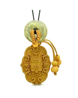 Feng Shui Lucky Symbols Car Charm Home DecGolden Pyrite IrDonut Protection Powers Magic Amulet